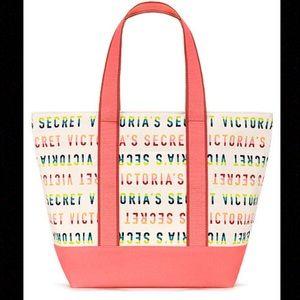 NWT Victoria's Secret Colorful Tote Bag